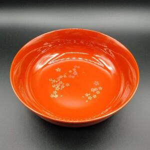 特別価格!漆塗り 菓子器 盛り込み鉢 桜 直径21.4cm 漆器 うるし塗装 食器 漆塗 大鉢 本漆 伝統工芸品 MM00ZN0MMM