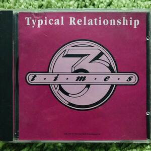 【CD Single】Times3/Typical Relationship US Promo盤 1992年産 New Jack Swing