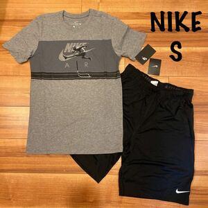 送料無料 即日発送 ナイキ メンズ S セットアップ 上下 半袖 Tシャツ ハーフパンツ 短パン ランニング トレーニング ウエア