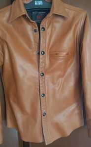 新品同様☆保管品☆RED MOON レッドムーン レザーシャツ ジャケット☆希少36☆Sサイズ