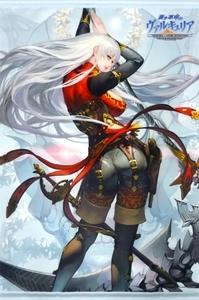 PS4/PS Vita 蒼き革命のヴァルキュリア ソフマップ購入特典 ブリュンヒンデ 描き下ろしB2タペストリー