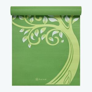 送料無料 gaiam ヨガマット TREE OF WISDOM MAT 緑 4mm green エクササイズ ピラティス フィットネス 知恵の木 筋トレ yoga mat