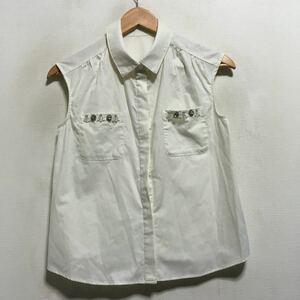 2016model ジルスチュアート JILL STUART ノースリーブシャツ size:M ホワイト 200513 レディース