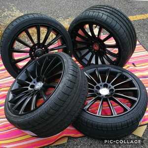 ベンツ Eクラス CLS W211 W218 BK836 19インチ 新品 タイヤとホイール付き 4本 セット 245/35R19 275/30R19