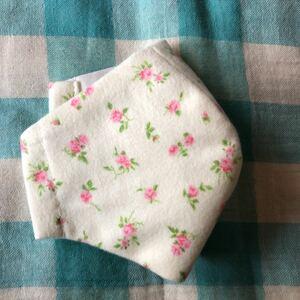 ピンク小花柄 ネル生地 ハンドメイド インナー