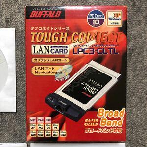 BUFFALO 10M PCカードスロット用 カプラレスLANカード 欠品なし