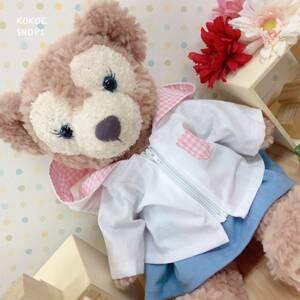 ダッフィー☆シェリーメイ☆白パーカー女の子セット☆ハンドメイド 服 コスチューム