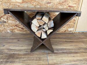 ログラックテーブル ウレタン塗装 茶色 #キャンプ#アウトドア#薪#焚き火
