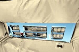 超低 PM エルフ 標準 フロント メッキ グリル いすゞ PMエルフ 平成16年6月~平成18年12月 ラジエーターグリル クローム フロントパネル