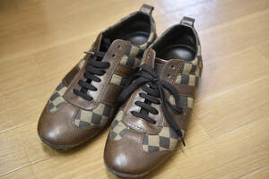 Louis Vuitton ルイヴィトン ダミエ エベヌ スニーカー 紐靴 難あり GO 0055 メンズ 男性靴