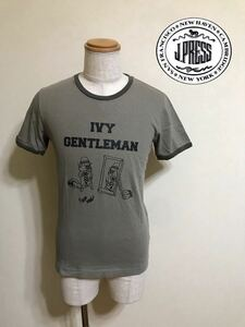 J.PRESS Jプレス ブルドッグ クルーネック Tシャツ トップス サイズM 半袖 カーキ オンワード樫山