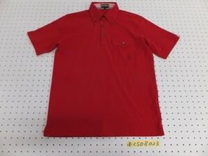 <送料280円>McGREGOR マックレガー メンズ ポリエステル ワンポイント刺繍 胸ポケット 半袖ポロシャツ M 赤