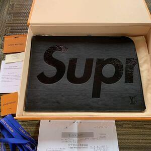 Supreme Louis vuitton Epi GM BLACK LV