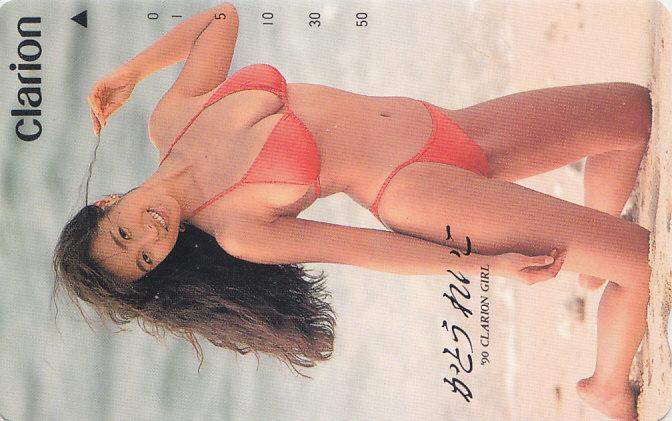 かとうれいこ clarion '90クラリオンガール/ビキニ水着【テレカ】 R2.5.18 ★送料最安60円~