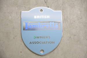 ランブレッタ LAMBRETTA オーナーズ バッチ OWNERS ASSOCIATION BRITISH 新品