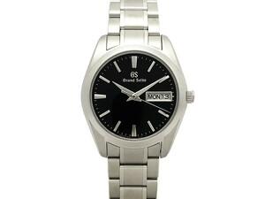 セイコー SEIKO グランドセイコー GS SBGT237 9F83-0AH0 SS ブラック文字盤 クォーツ メンズ 腕時計 仕上げ・電池交換済