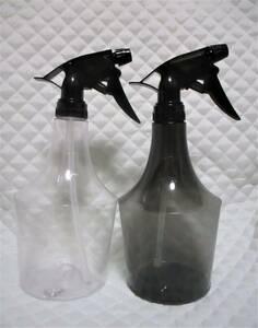 【 2本セット 詰め替え用 スプレーボトル 】 クリア & ダーク 750ml 直射 霧状 ストレート ミスト 霧吹き スプレー ボトル