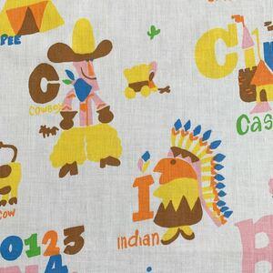 80's アルファベット USED フラットシーツ リメイク ビンテージ ハンドメイド コレクション アメリカ グッズ 雑貨 パステル 小物作り 素材