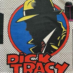90's はぎれ ディックトレイシー アメリカン 雑貨 アメコミ USED シーツ リメイク コレクター ハンドメイド 手作り 生地 入園入学準備