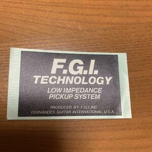 ステッカー 非売品 楽器 ギターピックアップメーカー F.G.I. テクノロジー フェルナンデス USA