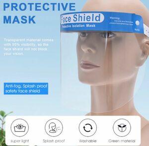 h232 フェイスシールド 5個パック! コロナウイルス対策 花粉症対策 防塵 防水 飛沫防止 透明 防雲 バイザー 医療用 調節可能ホルダー付き