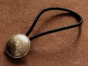 コインコンチョ ヘアゴムブレスレット 日本古銭 1円黄銅貨 (燻しなし)19mm バングル 金 ゴールド ボタン ループ 一円 硬貨 昭和