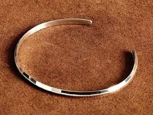 シルバー925製 レディース ブレスレット(タイルデザイン)バングル アクセサリー 銀色 インディアンジュエリー スターリングシルバー