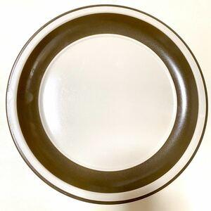 ヴィンテージ GENUINE STONE ストーンウェア プレート 大皿 茶色 日本製 料理 食事 ビンテージ ブラウン シンプル レトロ