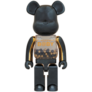 MY FIRST BE@RBRICK B@BY innersect BLACK & GOLD Ver. 1000% MEDICOM TOY PLUS ベアブリック メディコムトイ 千秋