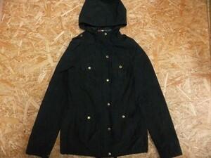 H&M エイチアンドエム レディース ミリタリー アウトドア フィールドジャケット パーカー ブルゾン 黒 サイズ34