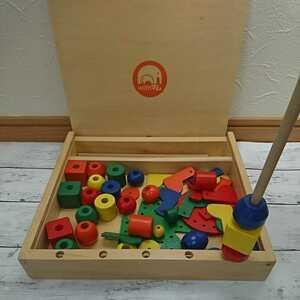 知育玩具 木のおもちゃ 積み木 木製 つみき