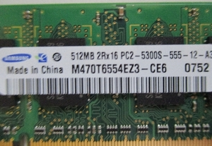 prompt decision * operation verification settled *SAMSUNG PC2-5300S 512MB* Note PC for * postage 94 jpy -