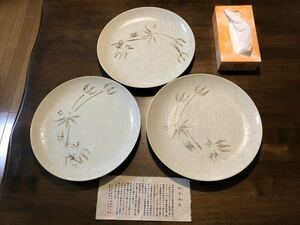 最終値下げ!新品未使用 美濃焼 四方木窯 和食器 大皿3枚セット 直径31cm