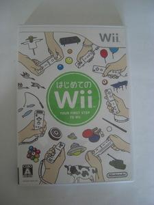 任天堂 Wii ソフト はじめてのWii ゲーム