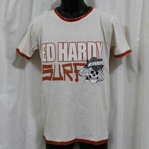 エドハーディー ED HARDY メンズ半袖Tシャツ Sサイズ NO84 新品 LOVE KILLS SLOWLY