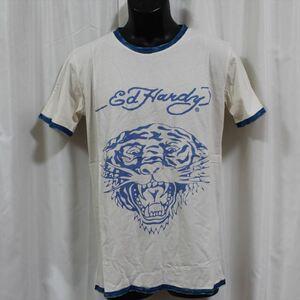 エドハーディー ED HARDY メンズ半袖Tシャツ Sサイズ PR091 TIGER 新品 ブルー