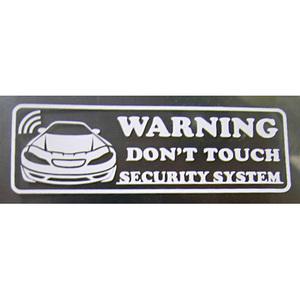 限定 防犯!!セキュリティーステッカー 1枚 USDM ローライダー カスタム アメ車 ドライブサイン