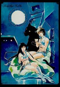 [Vintage][Delivery Free]1981 Dirty Pair(Novel ver)Bookstore Advertisement?Poster(Yoshikazu Yasuhiko)ダーティペア 安彦良和[tag2222]