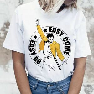 QUEEN Tシャツ Freddie Mercury バンドTシャツ バンT クイーン フレディマーキュリー 半袖Tシャツ Vol.8