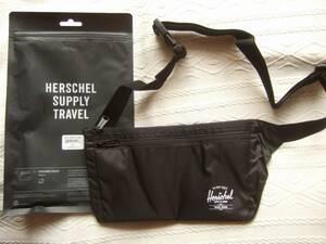 即決未使用◆ハーシェル・サプライ Explorer Pouch エクスプローラー・ポーチ 黒 ウエスト・バック ランニング 財布 エーグル ビームス