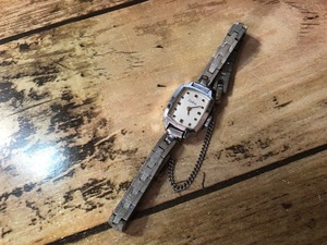 AK426 希少 レア アンティーク Zodiac ゾディアック SWISS MADE シルバー ストーンインデックス ヴィンテージ 手巻き レディース 腕時計