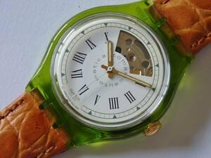 未使用 美品 92年オートマチック GRAN VIA 品番SAG100 スウォッチ Swatch