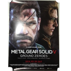 メタルギア ソリッド5 店頭用ポスター その3 METAL GEAR SOLID 非売品 スネーク ビッグボス