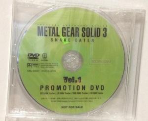 メタルギア ソリッド3 スネークイーター 店頭用プロモーションDVD Vol.1 METAL GEAR SOLID 非売品