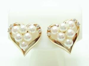 ◆◆K14真珠、ダイヤ イヤリング【新品】創業54周年!◆超キュート♪税込み超特価!送料サービス♪♪