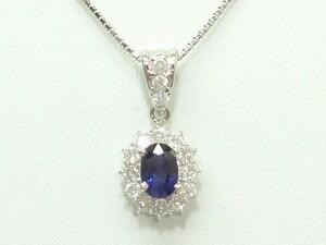 ◆プラチナサファイヤダイヤペンダント S1,02ct【新品】◆おかげさまで54周年祭◆税込み超特価!送料サービス♪