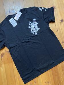 ★ ED HARDY エドハーディー 半袖プリントTシャツ 黒 L 新品 0746 ドクロ