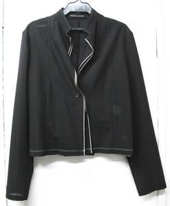 ヨウジ noir : 薄手 ウールギャバ ジャケット 未使用品 ( ワイズ シャツジャケット ヨウジヤマモト ノアール Yohji Yamamoto jacket