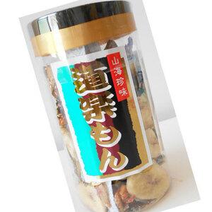 山海珍味 道楽もん110g(ケース入り) 小魚&バナナチップのミックスおつまみ【レターパックで2可能】