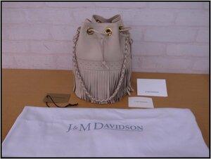 5212T 【本物保証】J&M DAVIDSON CARNIVAL デヴィッドソン カーニバル Lサイズ レザー アイボリー フリンジ アイボリー 美品